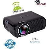 Punnkk P7 Plus 1800 lumens LED Projector with Miracast /HDMI/VGA/USB/AV