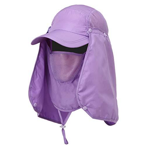 JOYOTER Angeln Wandern Visier Hut UV-Schutz Gesicht Hals Abdeckung atmungsaktiv Sonnenschutz Camping Cap für Outdoor