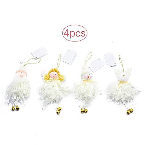 ation Anhänger Plüsch 4 Stücke Weihnachtsmann Schneemann Rentier Puppe, Für Party, Garten, Weihnachten, Halloween, Hochzeit ()