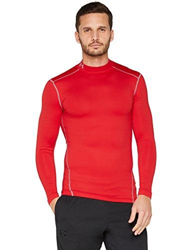 Under Armour Herren UA CG Armour Mock Fitness-Sweatshirts, Red/Steel, L (Mock Jumper)