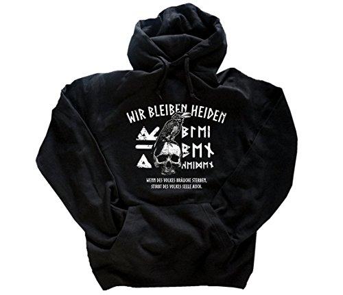 Wir bleiben Heiden-Wenn des Volkes Bräuche sterben stirbt des Volkes Seele auch Kapuzensweatshirt Hoody Schwarz XXXL - Sterben Hoody