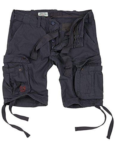Surplus Herren Airborne Vintage Cargo Shorts, anthrazit, Größe M -