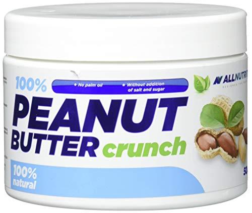 ALLNUTRITION 100% Peanut Butter Crunch Erdnussbutter Peanut Butter Aufstrich Proteine Frühstück 500g