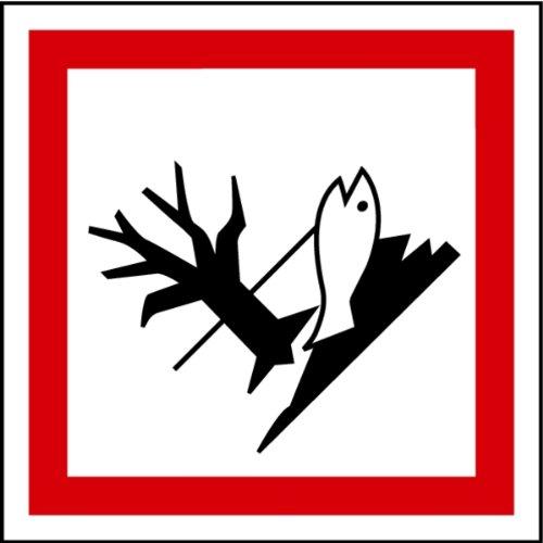 Aufkleber GHS 09 Gefahrensymbol Umwelt, Einzeln 100x100mm (Gefahrensymbole)