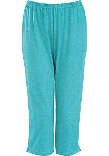 Trigema Damen 3/4 Freizeithose, Pantalon de Sport Femme Menthe