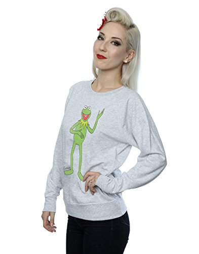 Muppets Femme Classic Kermit Sweat-Shirt Heather Gris