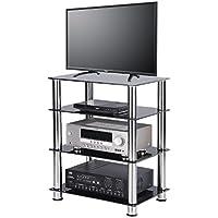 RFIVER Meuble TV Hifi à 4 Etages Meuble De Rangement à Télé DVD ...