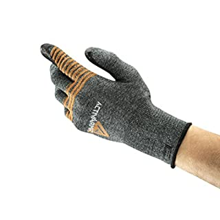 Ansell ActivArmr 97-007 Multi-purpose gloves, mechanical protection, Black, Size 8 (Pack of 1 pair)