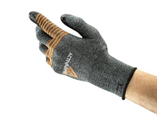 Ansell ActivArmr 97-007 Gants pour usages multiples, protection mécanique, Noir, Taille 8 (Sachet de 1 paire)