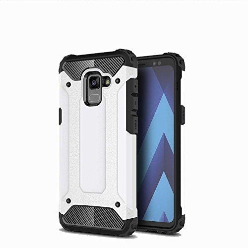 Custodie e cover Per Huawei P Smart,TPU +PC combinata,una protezione a 360 gradi,durevole, forte,di prima classe tecnologia anti-shock(bianco)