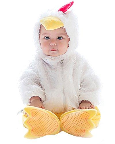 Weihnachten Halloween Langarm Outfits Jumpsuit Playsuit Strampler Winteroverall Küken 12-18Monate (Am Besten Neugeborenen-halloween-kostüme)