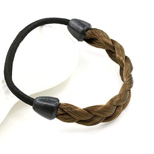 sches Hairband Frauen-Perücke Haar geflochten Haarschmuck Kopfband Kopfbedeckung hellbraun (Perücken Für Kleinkinder)