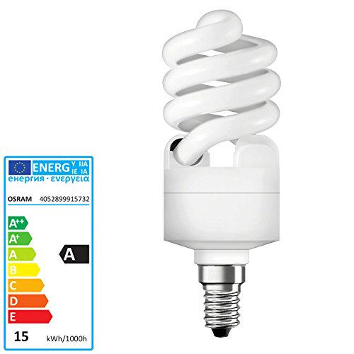 Osram CFL - Duluxstar Mini Twist Leuchtmittel, 15 W/827 E14 -