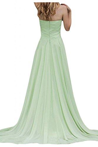 Toscana sposa dall'effetto senza spalline vestimento Chiffon damigella Ball per una serata Party Bete vestimento Salbei