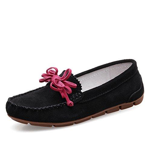 Zapatos De Mujer De Estilo Británico, Bailarinas, Zapatos Casuales De Cuero Ligero De Señoras, Zapatos De Jockey D