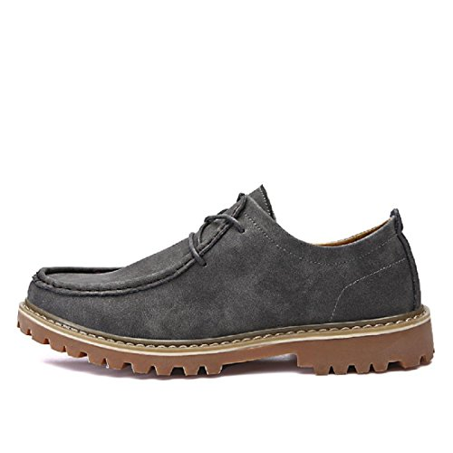 Uomo Moda Tempo libero Stivali Martin Confortevole Scarpe casual Scarpe da lavoro Antiscivolo Guidare Confortevole euro DIMENSIONE 39-44 Gray