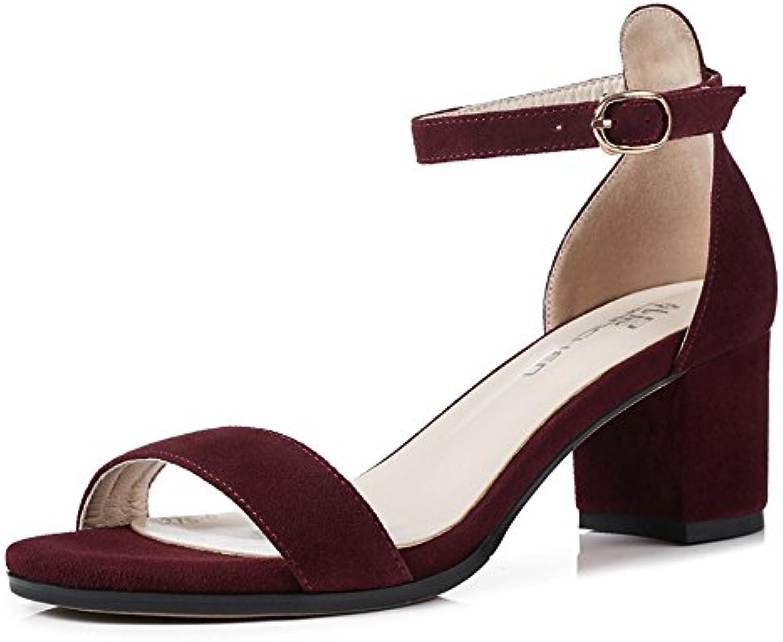 xzgc en été des sandales avec programmés pour bold bold bold et sexy et confortable chaussures femmes, 6 royaume uni, rouge foncé b07bsz3psk parent | Jolie Et Colorée  56df18
