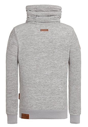 Naketano Male Zipped Jacket Schwanz ist Trumpf III Grey Melange