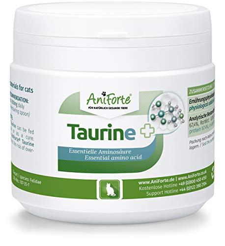 AniForte 100% Taurin 100g für Katzen - Essentielle Aminosäure | Bei Mangelerscheinung: Regulation Nervensystem & Immunsystem, Unterstützung Funktion des Herzens | Perfekte Futter-Zugabe