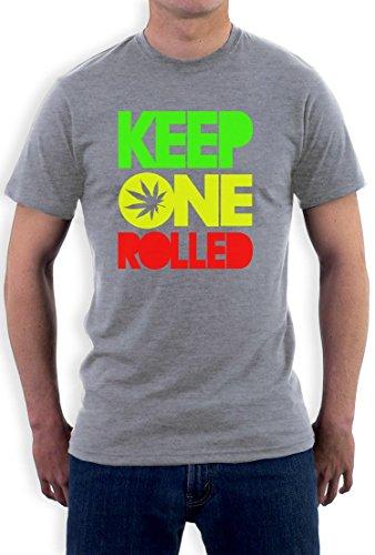 Keep one Rolled Rasta T-Shirt Grau
