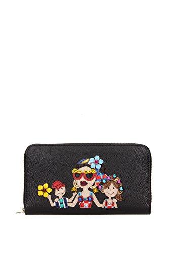 "Portafogli Dolce&Gabbana "" patch d&g family "" Donna - Pelle (BI0473AI07680999)"