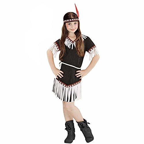 Imagen de widmann  disfraz de indio para niña, vestido, cinturón y diadema, tamaño 128 w0669 s