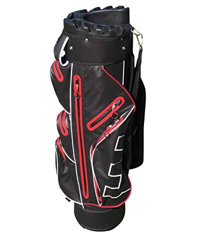 Golf Copenhagen 100{19c07dd8c5055103b6f0e5d43e1270a8d30430eeee8c9b334428b1c7dd88533e} wasserdicht Golftasche Schwarz Rot - Hudson Stay Dry (Rot - Schwarz)