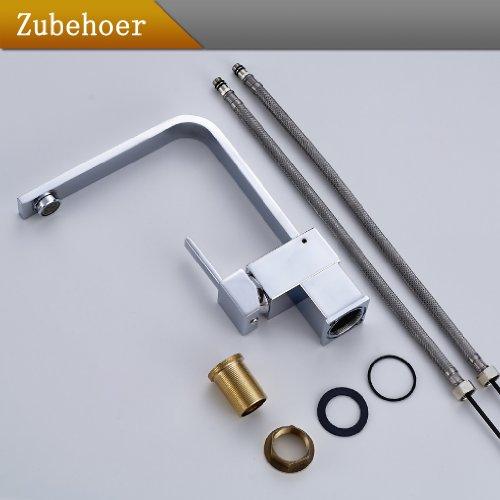 Auralum® Armatur Einhebel Wasserhahn Waschtischarmatur Wasserfall Waschbecken Bad Küche -