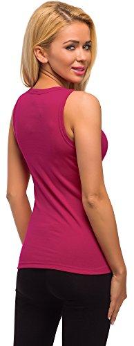 Merry Style Damen Unterhemd 3er Pack PD1X1 Himbeere