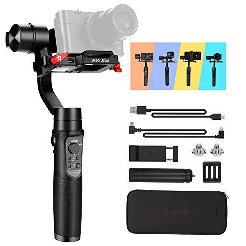 Hohem Stabilisateur 3 en 1 pour Appareil Photo numérique Sony RX100, Canon PowerShot, Panasonic Lumix, Gopro8, GoPro Max et iPhone 11 Pro Max, Smartphones, Playload 400 g (iSteady Multi)