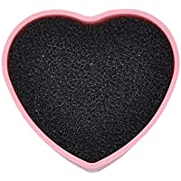 Limpiador de brochas de maquillaje de silicona con forma de corazón para limpieza en seco y húmedo