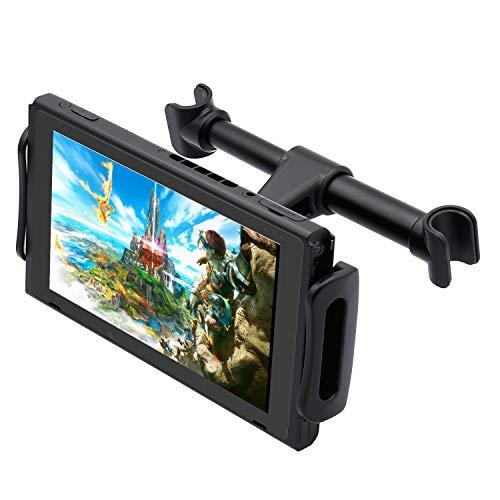 """FYOUNG Tablet Halterung Auto Kopfstütze für Nintendo Switch, Einstellbare Autohalterung für Nintendo Switch/iPhone/iPad und Mehr Geräte (4\""""-11\"""")"""