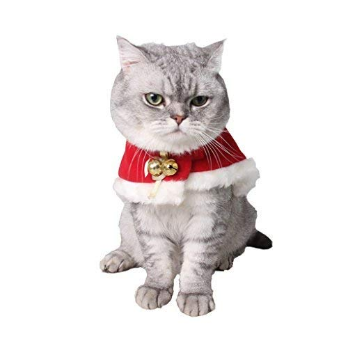 Kostüm Cape Schlafanzug - Hemio Verkleidungen Kostüme Schlafanzüge Arpoador Pet Weihnachten Umhang Katze Xmas Party Kostüm Cape rot Frühherbst große Comfort fit