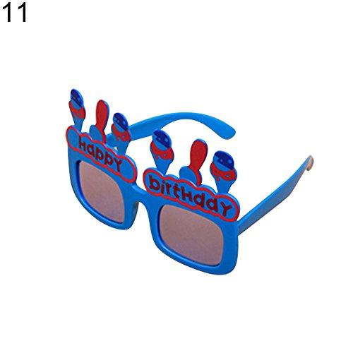 little finger Creative Funny Sonnenbrille Brille für Geburtstag Party Supplies Dekoration Geschenk, Plastik, Bluerabbit, Rabbit (Sonnenbrille Supplies Party)