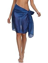 Abollria Elegante Bufandas Fulares Chales Mantón Estola de Gasa Mujer Ligero y Suave Cubierta de Bikini Falda Bañador Cover-Ups Multiusos para Playa Boda Novia Fiesta Excursión
