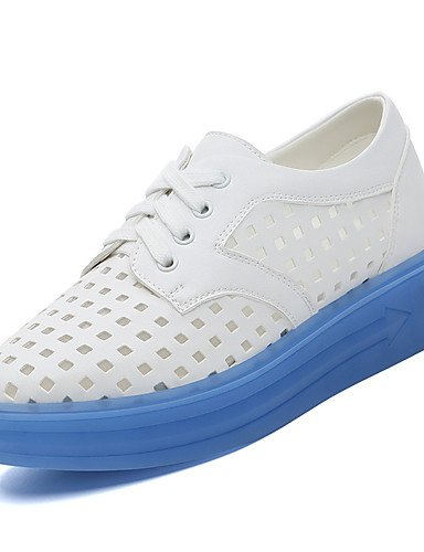 ZQ Scarpe Donna-Stringate-Ufficio e lavoro / Formale / Casual-Comoda-Piatto-Sintetico-Blu / Verde , blue-us8 / eu39 / uk6 / cn39 , blue-us8 / eu39 / uk6 / cn39 blue-us7.5 / eu38 / uk5.5 / cn38