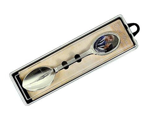 Boda Real Souvenir cuchara, H R H Prince Harry de Gales y Meghan Markle