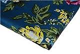 Ramdev Handicraft Stoff, 100% Baumwolle, blauer