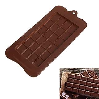 Biniwa – 24 Mulden Silikon quadratisch Schokoladenriegel Form AKE Eis Zucker Seife Backen Form Werkzeug für DIY Eis Cupcake Kuchen Zucker Paste Schokolade Süßigkeiten Projekte