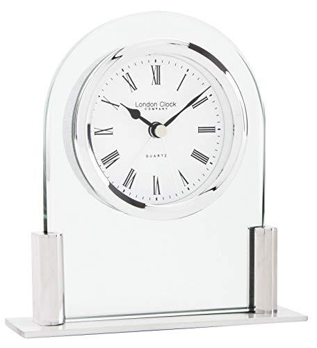 London Clock Glasbogen Top Kamin, 12,5 x 11,5 x 3,5 cm, silberfarben Carters Top