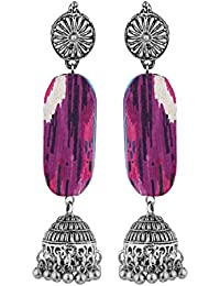 Katha by Voylla Silver Plated Drop Earrings for Women (8907617653051)