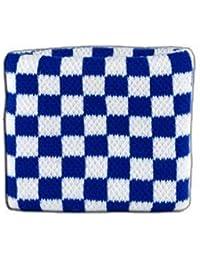 Digni® Poignet éponge avec drapeau Damier Bleu-Blanc