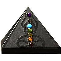 winmaarc schwarz Achat Pyramide mit 7Chakra Stone Akzente Reiki Healing Kristall Stein preisvergleich bei billige-tabletten.eu