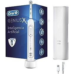 Oral-B Genius X 20000N - Cepillo de Dientes Eléctrico con Tecnología de Braun, Blanco