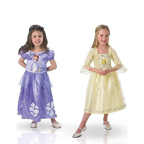 Disney-610289s-Dguisement-Pour-Enfant-Bi-Pack-Sofia-Et-Ambre-Dguise-Classiques-Taille-S