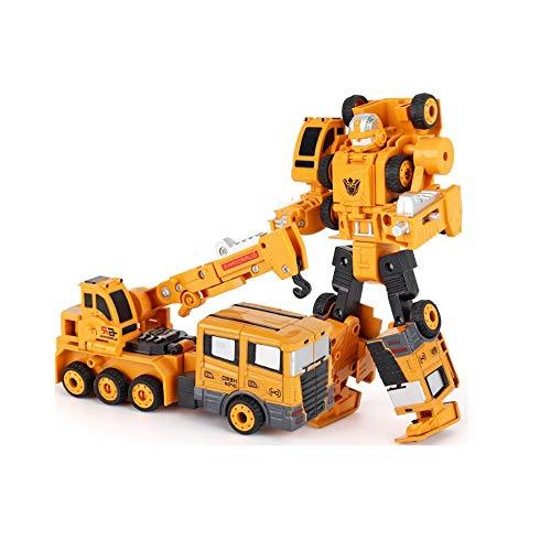 KaiWenLi Legierung Technik Fahrzeug Roboter-Spielzeug-5-in-1 DIY Deformation Puzzle Game Geeignet for Kinder ab 3 Jahren ABS Material Building Blocks Eltern-Kind-Engineering-Kombination (Größe : D)