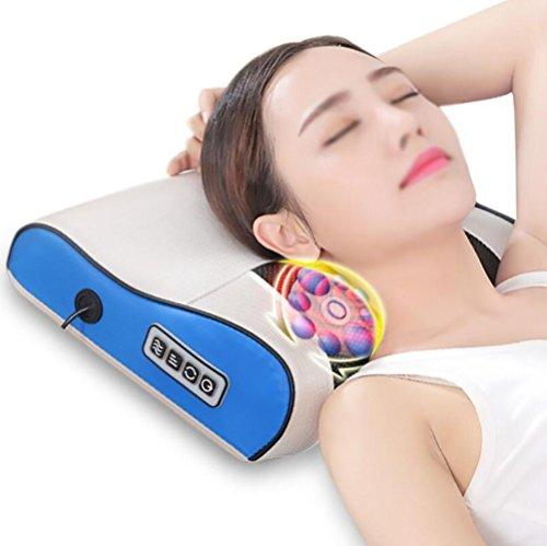 JMung'S Massage Kissen Schulter Elektrische Massage,PU + ABS Material,Kneten Schulter und Hals Taille Heizung Geschenk Mehrzweck Auto Dual-Use-Haushalt -