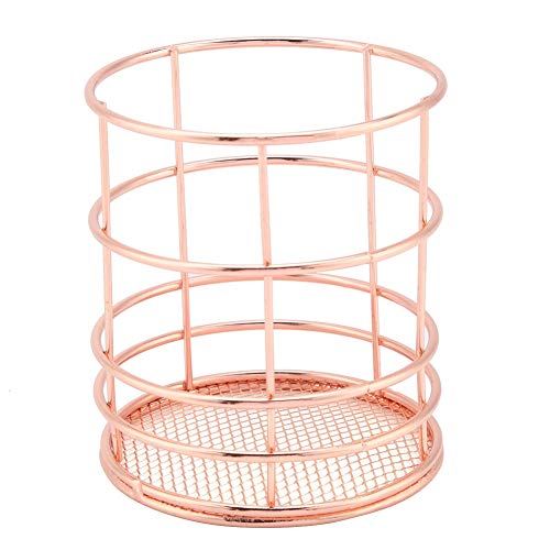 Rose Gold Eisen Metall Ablagekorb Mesh Tray Organizer Regal Rack Conditioner Draht Halter Desktop Decor(A) -