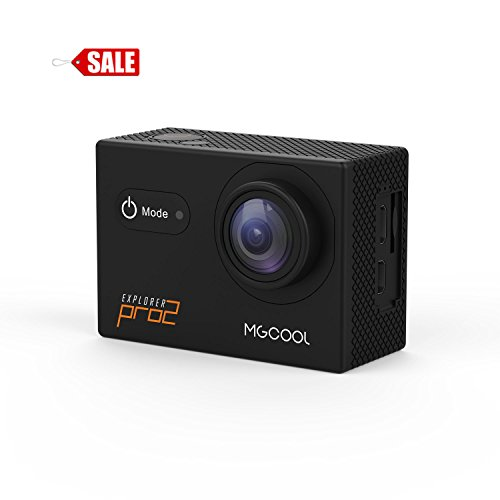 MGCOOL Explorer Pro2 4K Ultra HD Action Camera, con 2 inch LCD touch screen ,170° grandangolare, 30 m impermeabile Action Cam,funzione di wifi, sport DVR Nero
