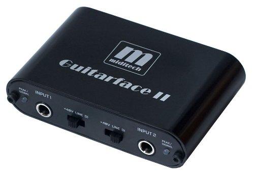 MIDITECH MIT-00135 GUITARFACE II - INTERFAZ DE AUDIO CON AMPLIFICADOR SAMPL SILVER 11 INTEGRADO